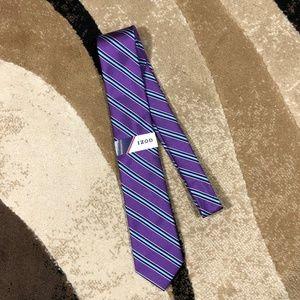 Men's IZOD Purple, Blue, Teal, White Stripe Tie